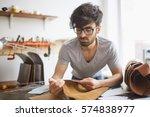 portrait of modern handsome...   Shutterstock . vector #574838977
