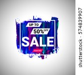 sale up to 50  off banner sign... | Shutterstock .eps vector #574839907