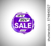 sale up to 25  off banner sign... | Shutterstock .eps vector #574840027