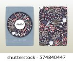 cover design with floral... | Shutterstock .eps vector #574840447