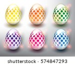Set Of 6 Color Easter Eggs....