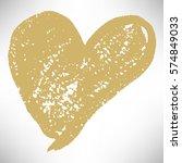 gold hand drawn heart. cute...   Shutterstock .eps vector #574849033