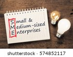 sme or small and medium sized...   Shutterstock . vector #574852117
