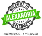 alexandria. welcome to... | Shutterstock .eps vector #574852963