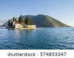 sveti dorde island in kotor bay | Shutterstock . vector #574853347