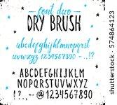 handmade letters. handwritten... | Shutterstock .eps vector #574864123
