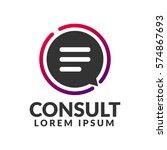 consulting agency logo.... | Shutterstock .eps vector #574867693