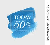 sale today 50  off sign over... | Shutterstock .eps vector #574869127
