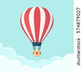 hot air balloon in the sky with ... | Shutterstock .eps vector #574879027