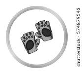 gym gloves icon in monochrome... | Shutterstock .eps vector #574879543