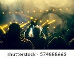 crowd at concert | Shutterstock . vector #574888663