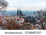 Brno Cathedral At Winter  Czec...