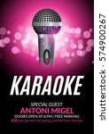 karaoke party invitation poster ... | Shutterstock .eps vector #574900267