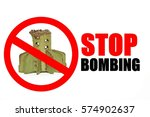 Stop Bombing Sign With Tail Of...