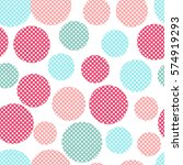 seamless dots pattern with... | Shutterstock .eps vector #574919293