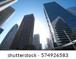 buildings in shinjuku  tokyo ... | Shutterstock . vector #574926583