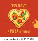 vector fun valentine s day card ... | Shutterstock .eps vector #574929937