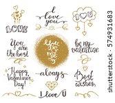 valentine's day phrases  love... | Shutterstock .eps vector #574931683
