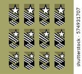 modern heraldic. star and... | Shutterstock .eps vector #574931707