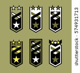 set of rank badges. modern... | Shutterstock .eps vector #574931713