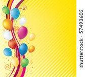 vector balloons celebration... | Shutterstock .eps vector #57493603