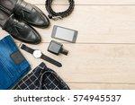 beautiful casual men fashion... | Shutterstock . vector #574945537