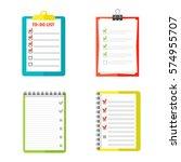 agenda list concept vector... | Shutterstock .eps vector #574955707