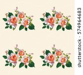seamless floral pattern with... | Shutterstock .eps vector #574964683