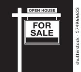 a basic for sale sign in vector ... | Shutterstock .eps vector #574966633
