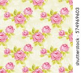 seamless floral pattern with... | Shutterstock .eps vector #574969603