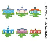 school buildings illustration | Shutterstock .eps vector #574969987