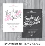 wedding invitation vintage card ... | Shutterstock .eps vector #574972717