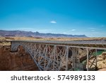 historic navajo steel bridges... | Shutterstock . vector #574989133