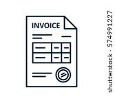 invoice line icon  isolated on... | Shutterstock .eps vector #574991227