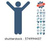 happy man pictograph with bonus ... | Shutterstock .eps vector #574994437
