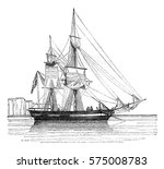 quiche was the anchor  sails... | Shutterstock . vector #575008783