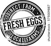 vintage fresh eggs restaurant... | Shutterstock .eps vector #575009887