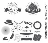 theater design elements set for ... | Shutterstock .eps vector #575012797