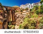 ronda  spain  a landscape with... | Shutterstock . vector #575035453