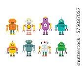 robot character vector... | Shutterstock .eps vector #575037037