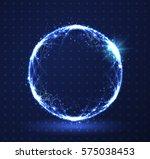 polygonal sphere hud element... | Shutterstock .eps vector #575038453