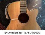 broken guitar selective focus    Shutterstock . vector #575040403