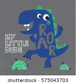cute dinosaur vector drawing... | Shutterstock .eps vector #575043703