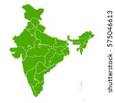 india green map | Shutterstock .eps vector #575046613