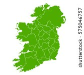 ireland green map | Shutterstock .eps vector #575046757