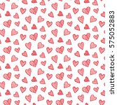 romantic seamless pattern with... | Shutterstock . vector #575052883