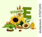 vitamin e vector illustration.... | Shutterstock .eps vector #575071093