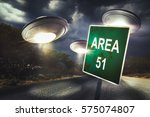Area 51 Sign In The Middle Of...