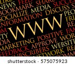 www word cloud  technology... | Shutterstock .eps vector #575075923