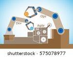 concept of devops  illustrates... | Shutterstock .eps vector #575078977